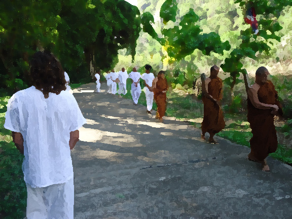 Walking Meditation with monks